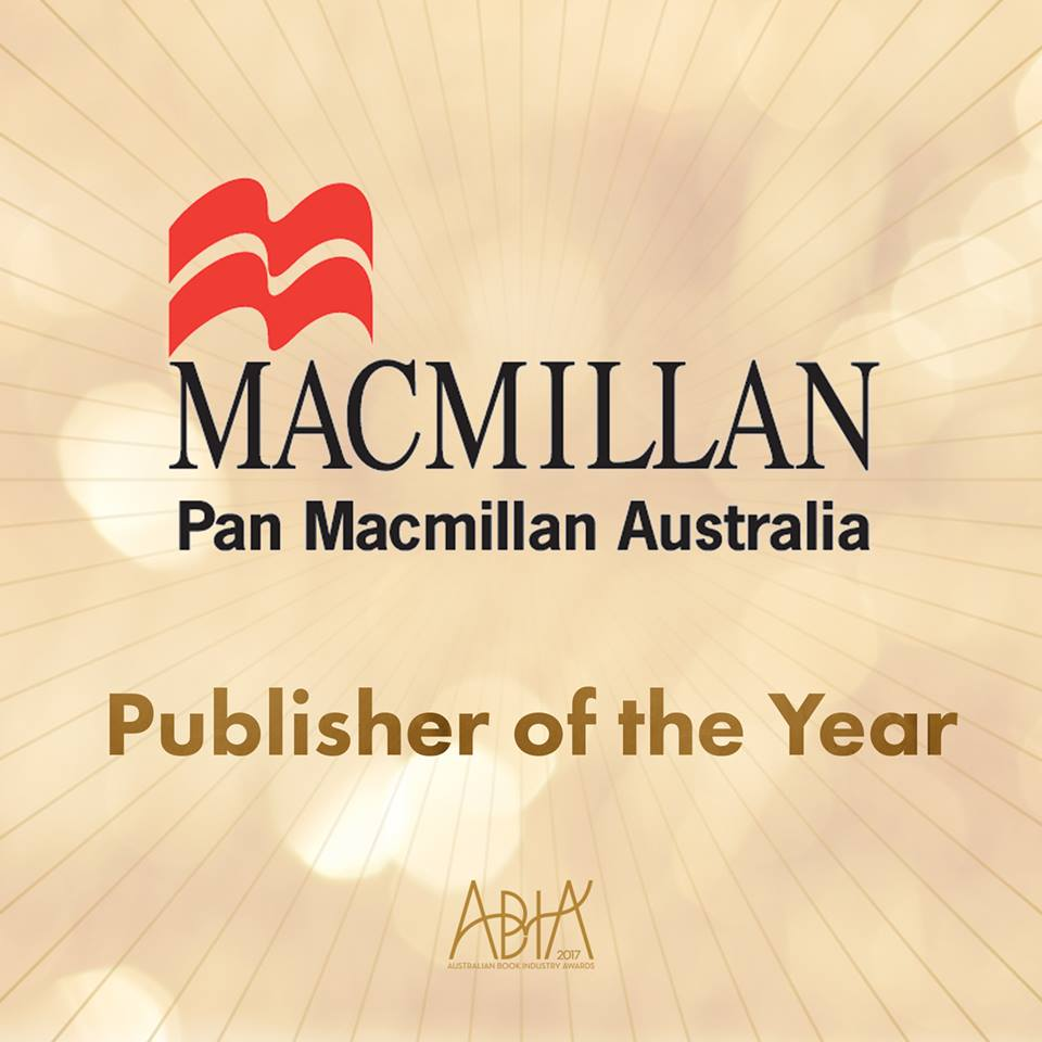 Pan Macmillan wins Publisher of the Year at 2017 ABIAs; 'The Dry' named Book of the Year