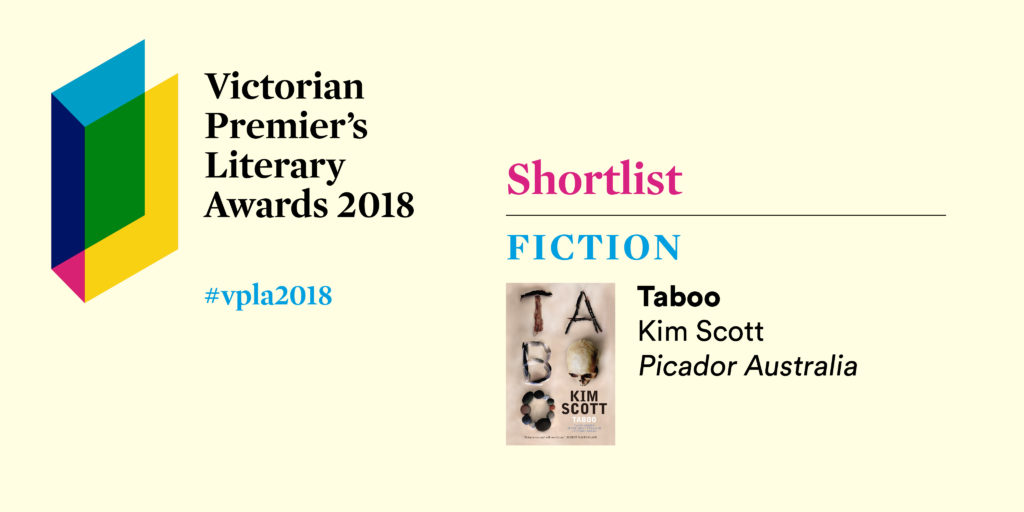 Taboo makes the shortlist for the 2018 victorian premiers literary taboo vpla2018 ccuart Choice Image